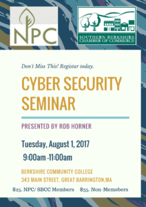 Cyber Security Seminar @ Berkshire Community College South Campus | Great Barrington | Massachusetts | United States