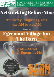 Networking Before Nine 8.24.17 @ Egremont Village Inn/The Barn | Egremont | Massachusetts | United States