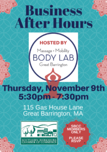 Business After Hours @ Body Lab GB | Great Barrington | Massachusetts | United States