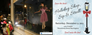 Southern Berkshire Chamber of Commerce 2017 Holiday Shop, Sip & Stroll @ Downtown Great Barrington