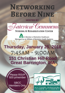 Networking Before Nine at Fairview Commons @ Fairview Commons | Great Barrington | Massachusetts | United States