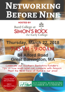 Networking Before Nine hosted by Bard College at Simon's Rock @ Bard College at Simon's Rock | Great Barrington | Massachusetts | United States