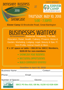 2018 Berkshire Business Showcase Sign Up Form