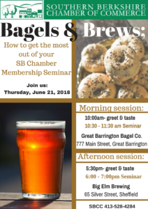Bagels & Brews: Evening Session @ Big Elm Brewing | Sheffield | Massachusetts | United States