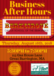 Business After Hours hosted by Berkcirque @ Berkcirque | Great Barrington | Massachusetts | United States