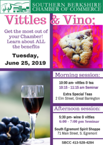 Vittles & Vino - afternoon session @ South Egremont Spirit Shoppe