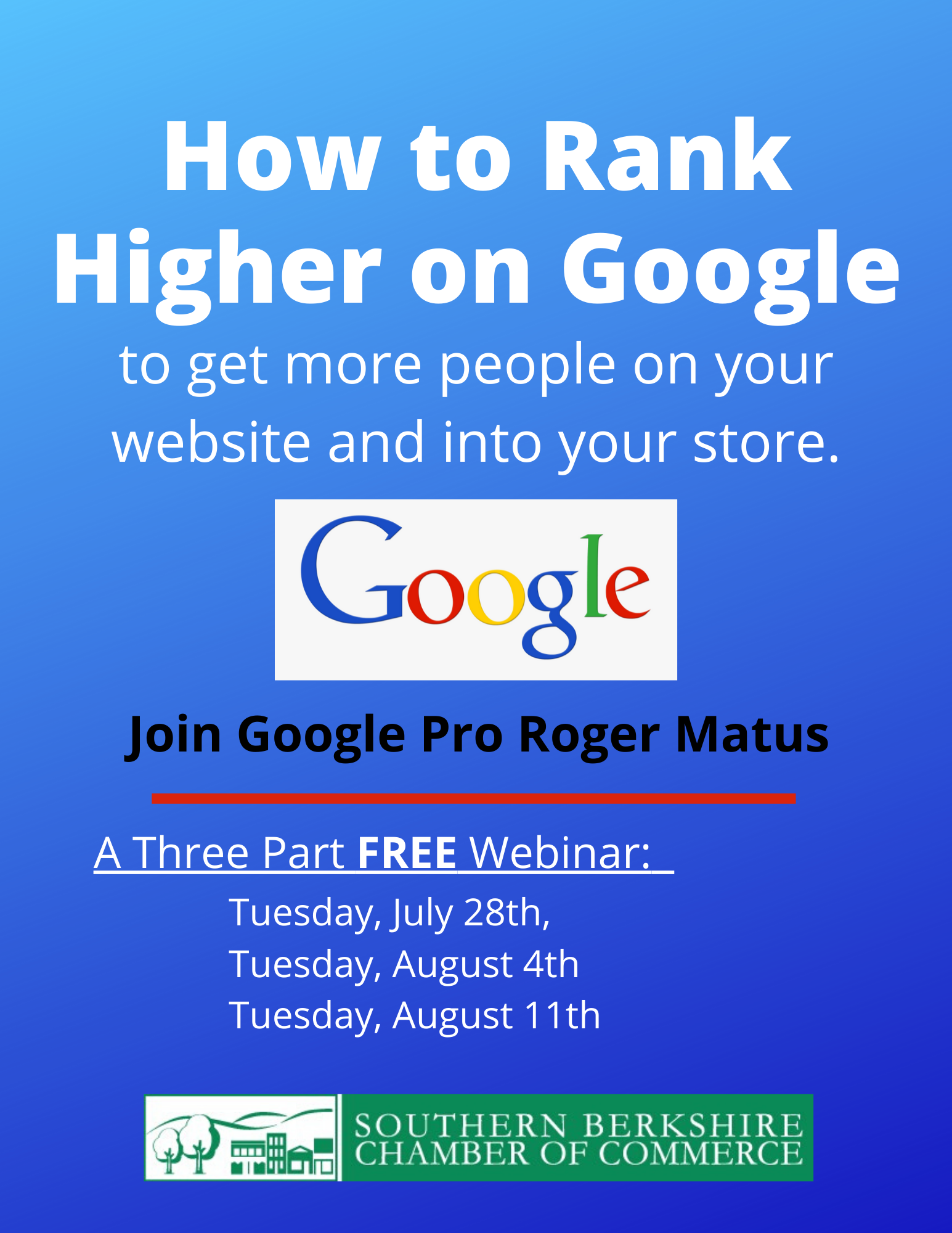 Webinar - Rank Higher on Google: Big Wins