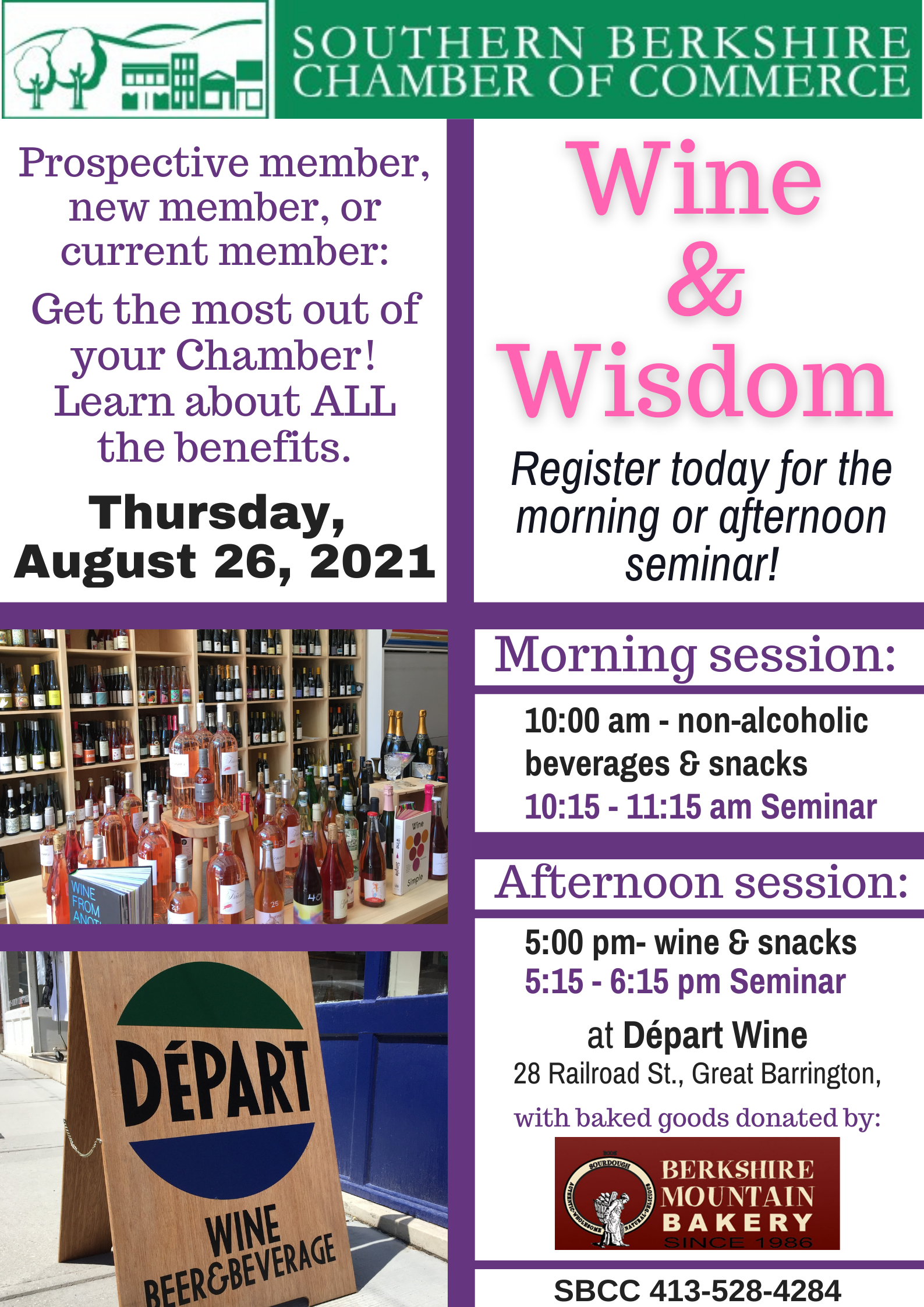 Wine & Wisdom - Morning Seminar